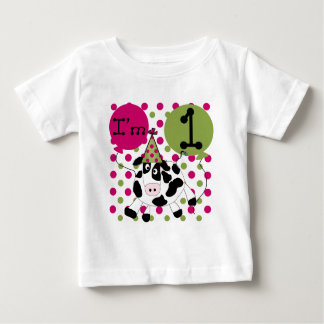 Pink  Cow 1st Birthday Tshirts and Gifts