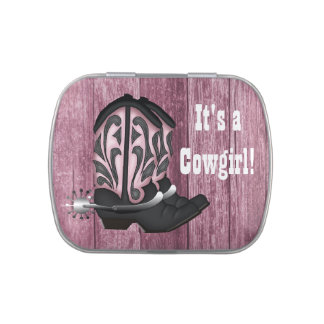 Pink Cowgirl Baby Shower Candy