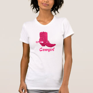 Pink Cowgirl Boot T-Shirt
