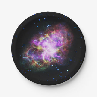 Pink Crab Nebula 7 Inch Paper Plate