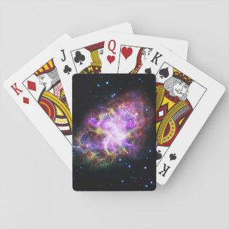 Pink Crab Nebula Poker Deck
