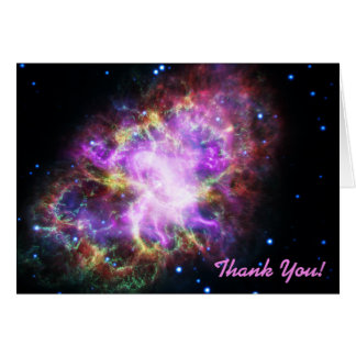 Pink Crab Nebula Space Image Thank You Card