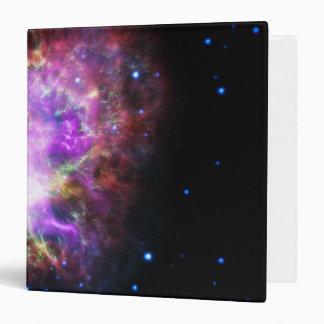 Pink Crab Nebula Vinyl Binder