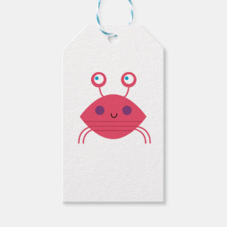 Pink Crab on white Gift Tags
