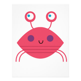 Pink Crab on white Letterhead