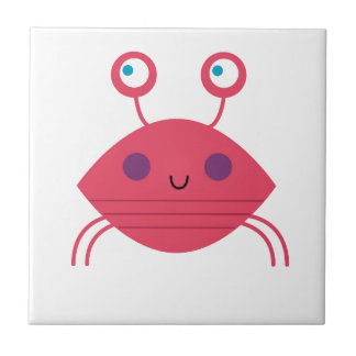 Pink Crab on white Tile