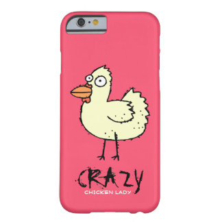 PINK Crazy Chicken Lady Cartoon Hen Barely There iPhone 6 Case