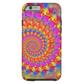 Pink Crazy Fractal Tough iPhone 6 Case