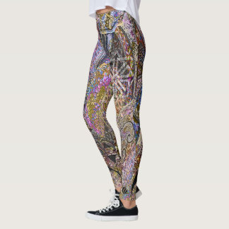 Pink Crests & Koi Scales Leggings