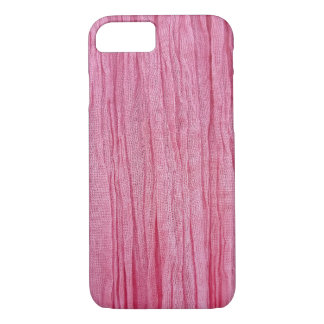 pink crinkled gauze fabric iPhone 8/7 case