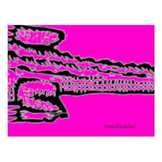 pink croc postcard