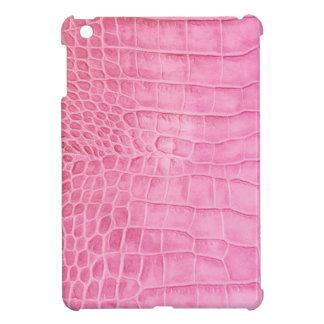 Pink crocodile case for the iPad mini