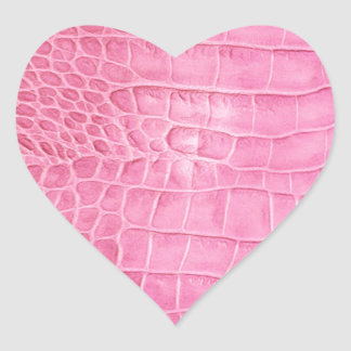 Pink crocodile heart sticker