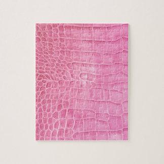 Pink crocodile jigsaw puzzle