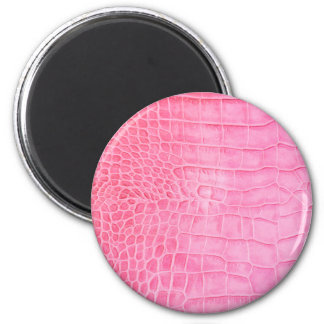 Pink crocodile magnet