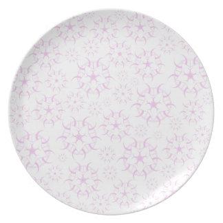 Pink Crop Circles Dinner Plate