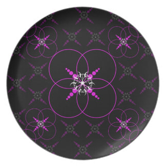 Pink Crop Circles Party Plate