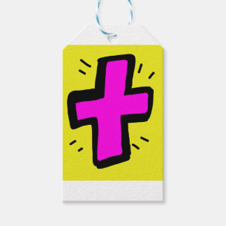 pink cross gift tags
