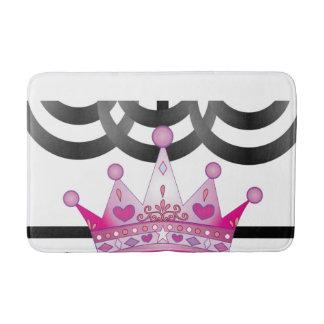 pink crown bathroom bathmat