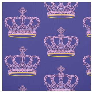 Pink crown fabric