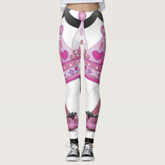 pink crown shoes leggings
