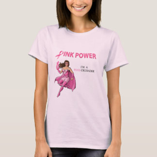 Pink Crusader T Shirt Design 1