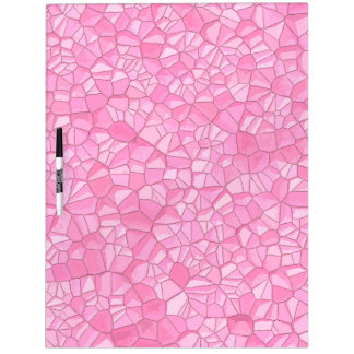 Pink crystal dry erase board