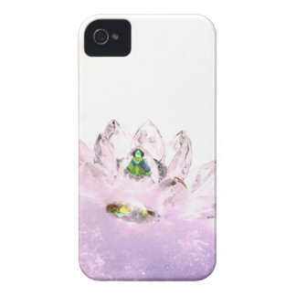 Pink crystal lotus Case-Mate iPhone 4 cases