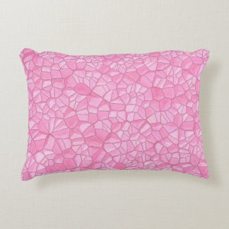 "Pink crystal Polyester Accent Pillow 16"" x 12"""