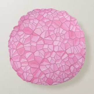 "Pink crystal Round Throw Pillow (16"")"