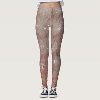 Pink crystal texture Woman leggins Leggings