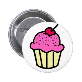 Pink Cupcake 2 Inch Round Button