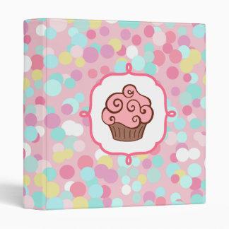 Pink Cupcake Binder