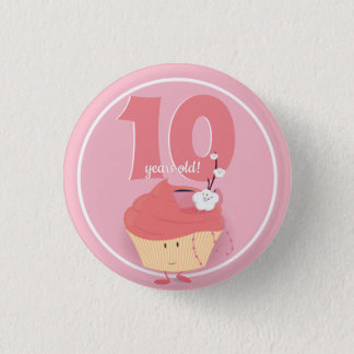 Pink Cupcake Birthday | Button