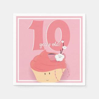 Pink Cupcake Birthday | Paper Napkin
