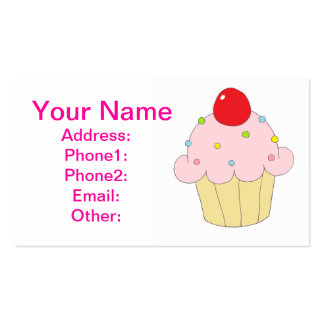 Pink Cupcake Business Card Template