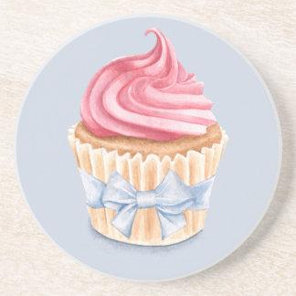 Pink Cupcake Coaster