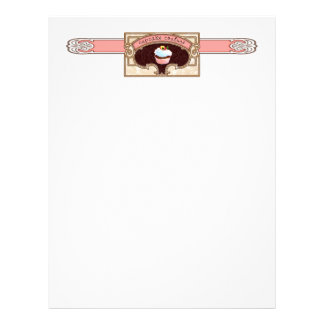 Pink Cupcake Couture Letterhead Logo