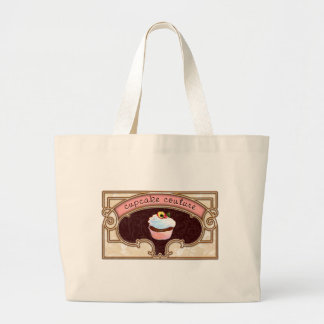 Pink Cupcake Couture Sign Logo Banner Tote Bags