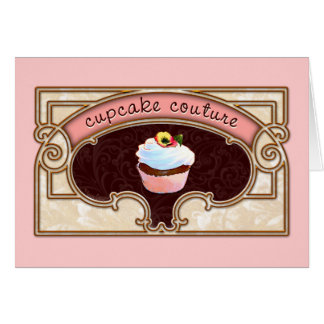Pink Cupcake Couture Sign Logo Banner Cards