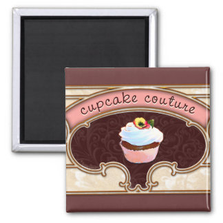 Pink Cupcake Couture Sign Logo Banner Refrigerator Magnet