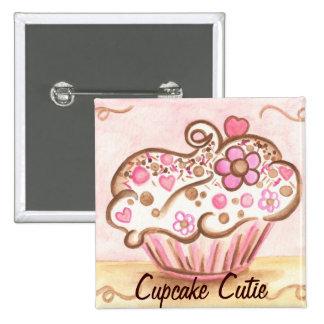 Pink Cupcake Cutie Button