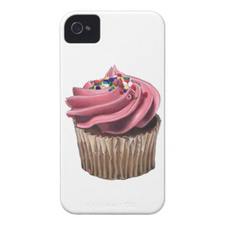 Pink Cupcake iPhone 4/4S Case-Mate Barely There Ca