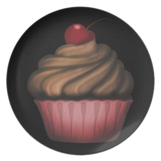 Pink Cupcake Kitchen Decor Plate
