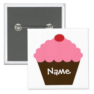 Pink Cupcake Love 2 Inch Square Button