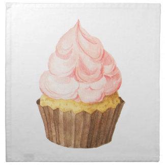 pink cupcake napkin