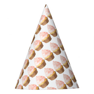 pink cupcake party party hat