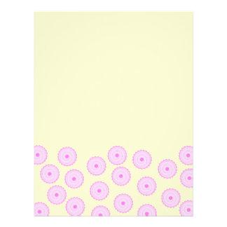 Pink Cupcake Pattern. Flyer Design