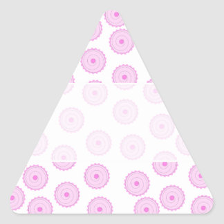 Pink Cupcake Pattern. Triangle Stickers