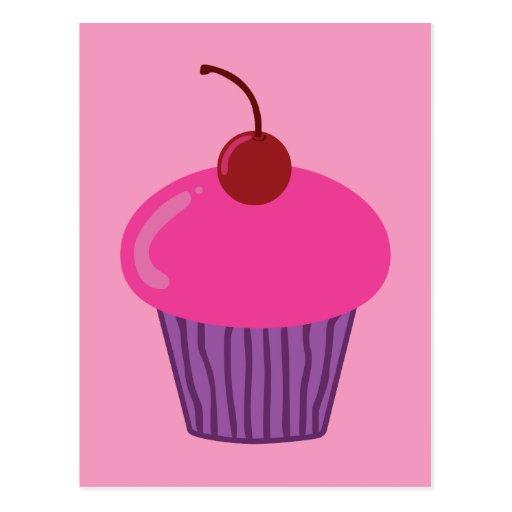 Pink Cupcake Postcard